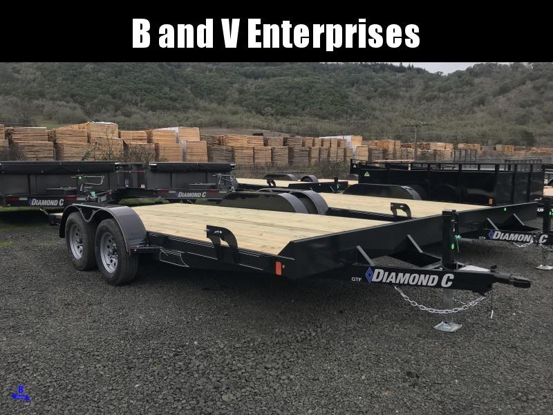 2019 Diamond C Trailers GTF235 16X83 Flatbed Car / Racing Trailer K1210734