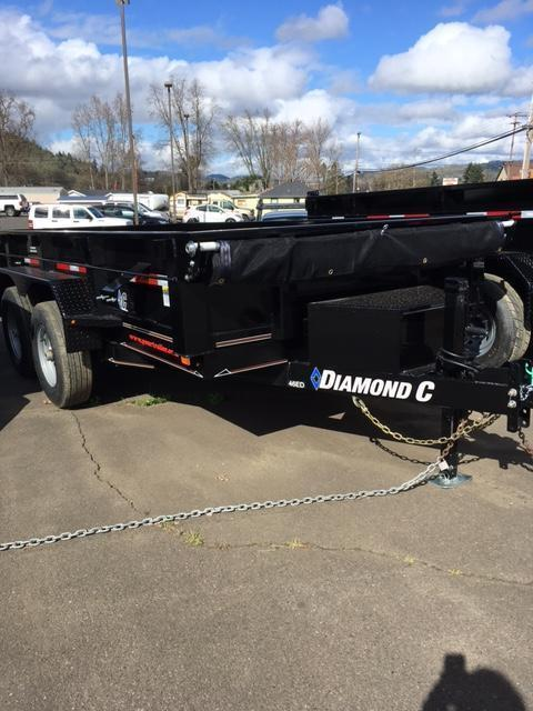2018 Diamond C Trailers 46ED 77x12 3 Way gate Dump Trailer