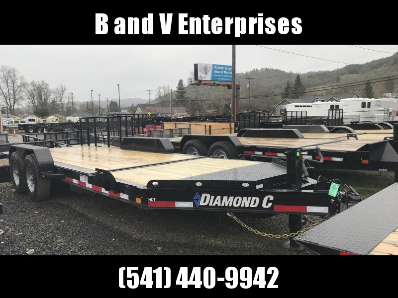 2019 DIAMOND C HDT207 82X20 SPLIT TILT EQUIPMENT TRAILER K1210736