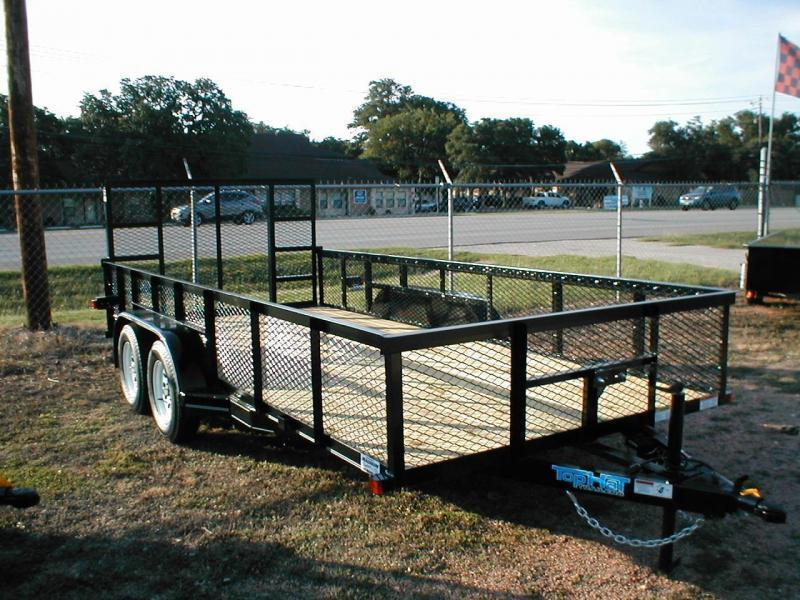 2019 Top Hat Trailers 7X16 W/ 24IN EXPANDED METAL SIDES