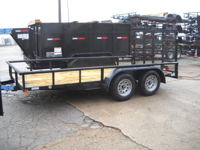 2019 Top Hat 7X14 Pipe Top Utility Trailer