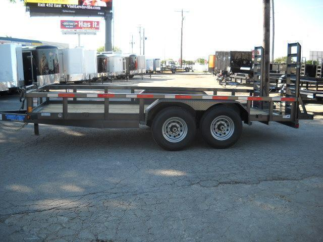 2018 Top Hat 7X16 Equipment Trailer 14000 GVWR