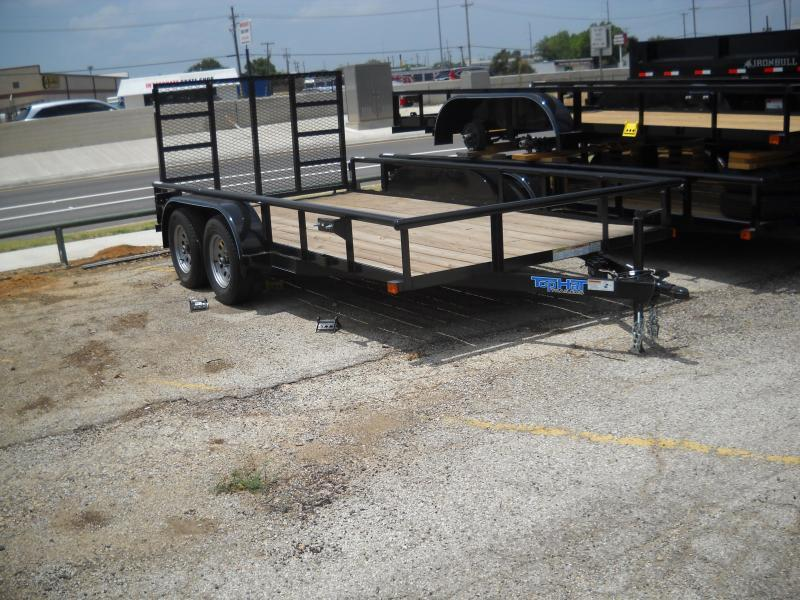 2019 Top Hat 7X16 Pipe Top Utility Trailer
