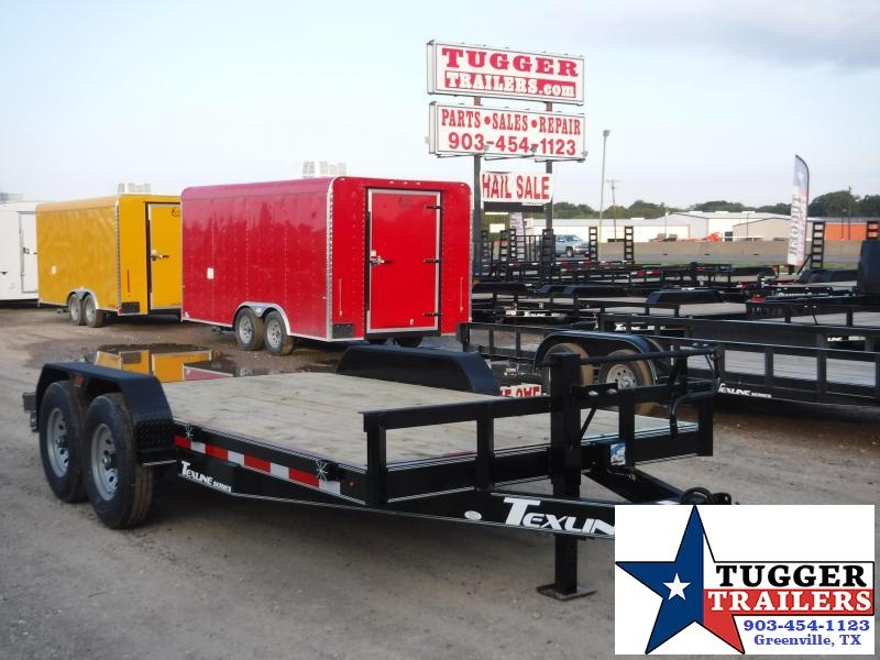 2019 TexLine 83x16 16ft Bobcat Utility Flatbed Trailer