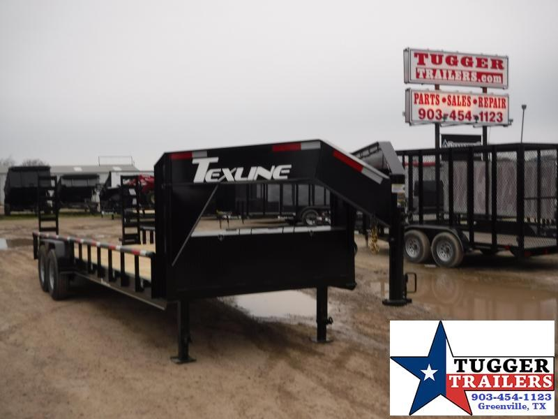 2019 TexLine 83x24 24ft Open Gooseneck Flatbed Trailer