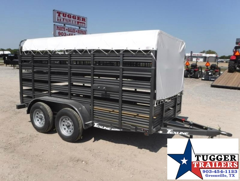 2017 TexLine 6x12 TA Mini Stock Livestock Trailer