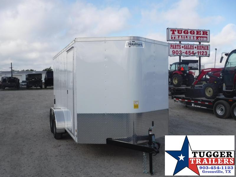 2019 Haulmark Trailers 7x14 White Tandem Axle Enclosed Cargo Trailer