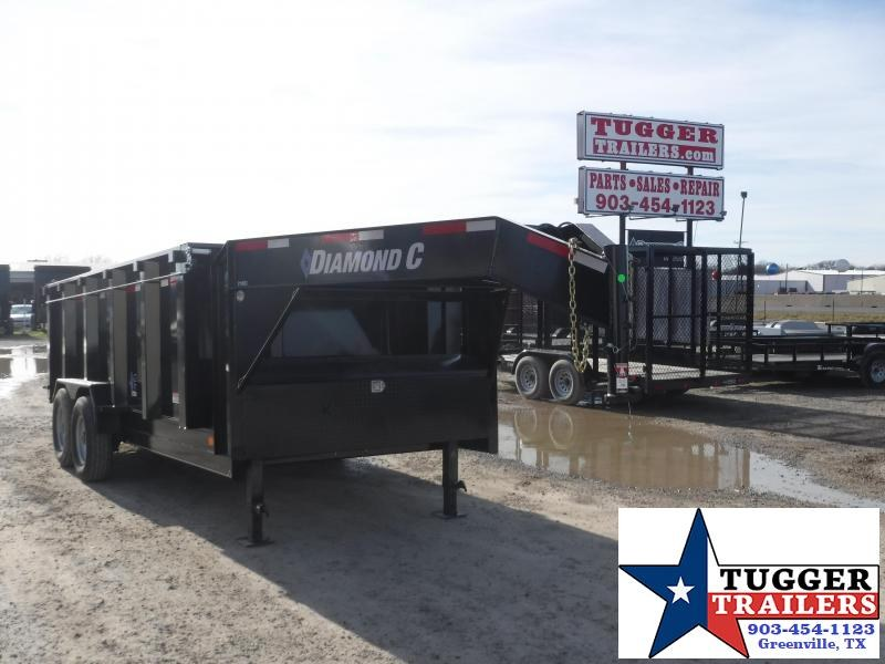 2019 Diamond C Trailers 82 x 14 14ft Gooseneck Dump Dump Trailer