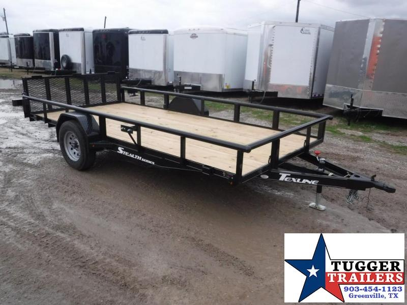 2019 TexLine 77x14 14ft Black 2019 Stealth Utility Trailer