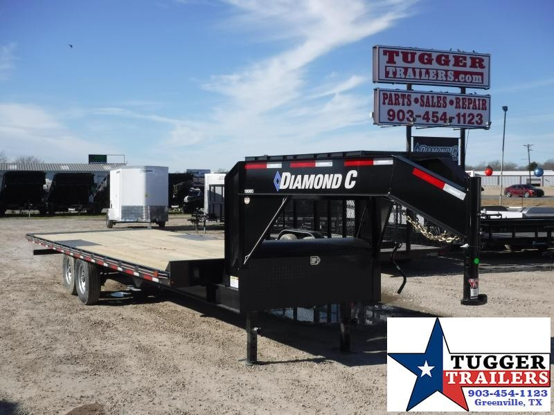 2019 Diamond C Trailers Goose Neck 13DECL 102X26 Flatbed Trailer