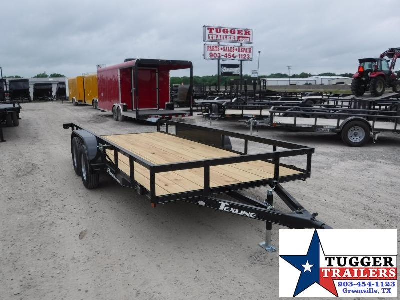 2019 TexLine 77x16 16ft Flatbed Ramp Utility Trailer
