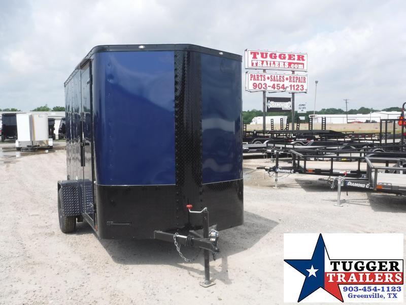 2019 Cargo Craft 6x10 10ft Elite Plus 2 V-Nose Blackout Blue Enclosed Cargo Trailer