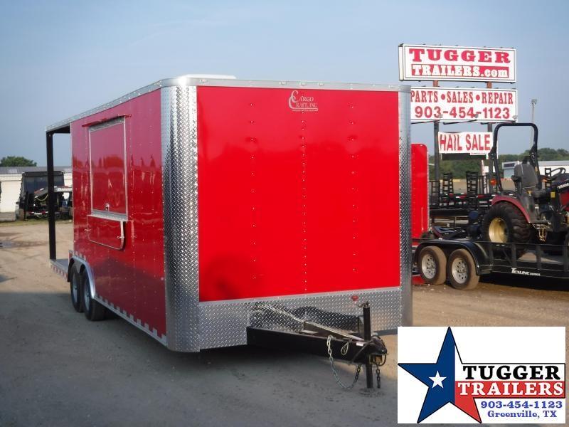 2019 Cargo Craft 8.5x24 24ft Porch Food Taco Snow Cone Street Vending / Concession Trailer