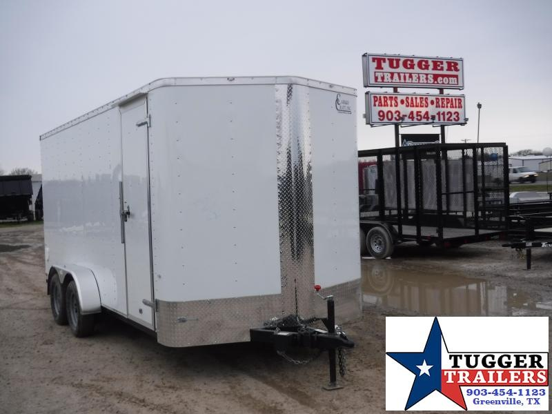 2019 Cargo Craft 7x16 16ft White 2019 Ramp Enclosed Cargo Trailer
