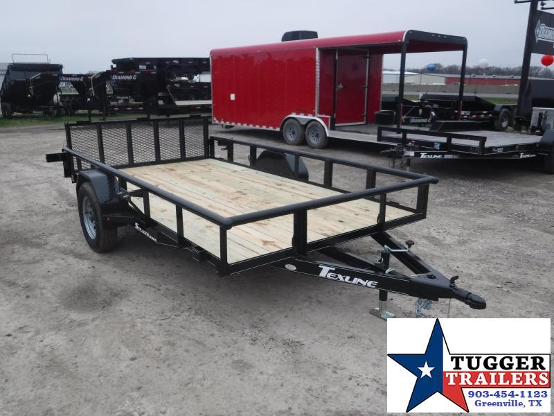 2019 TexLine 77x12 12ft 2019 Black Stealth Utility Trailer