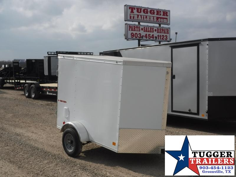 2019 Cargo Mate 4x6 6ft Single Door Enclosed Cargo Trailer
