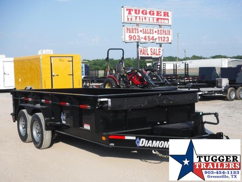 2019 Diamond C Trailers 82x14 14ft Black 2019 LPD207 Dump Trailer