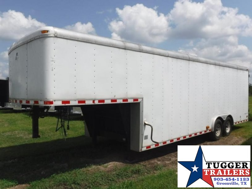 Used 2001 Pace American used 8.5x30 Gooseneck Enclosed Cargo Trailer