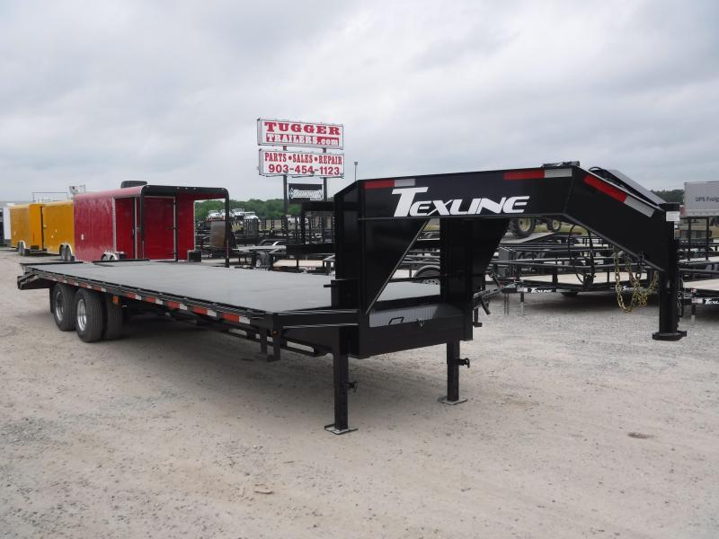 2019 TexLine 102x30 30ft Gooseneck Equipment Flatbed Trailer