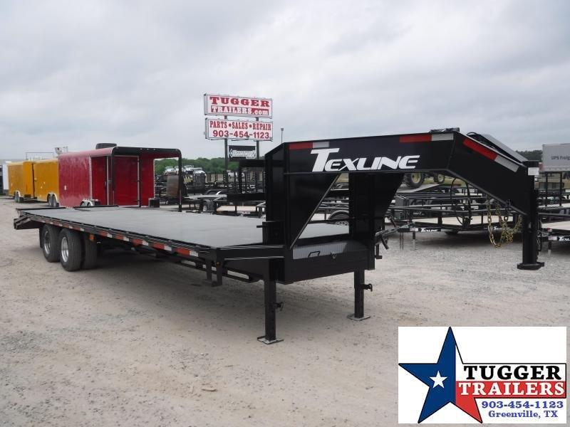 2019 TexLine 102x30 30ft Open Gooseneck Equipment Flatbed Trailer