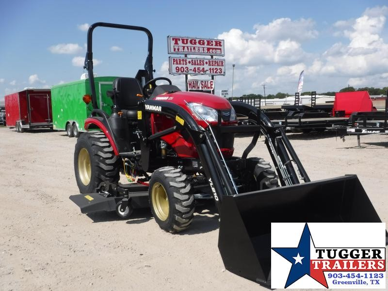 2019 Yanmar 4x4 SA 324 Tractor and Loader and Mower Deck