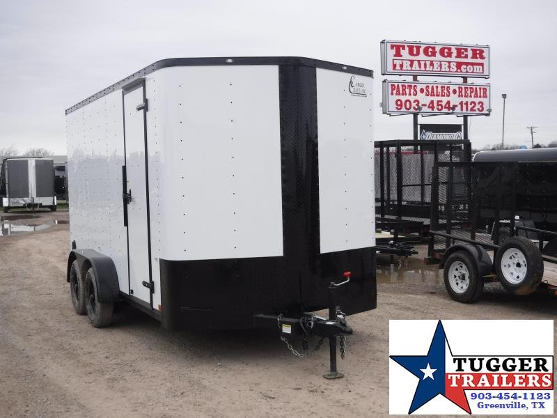 2019 Cargo Craft 7x14 14ft Black-Out White 2019 Ramp Enclosed Cargo Trailer