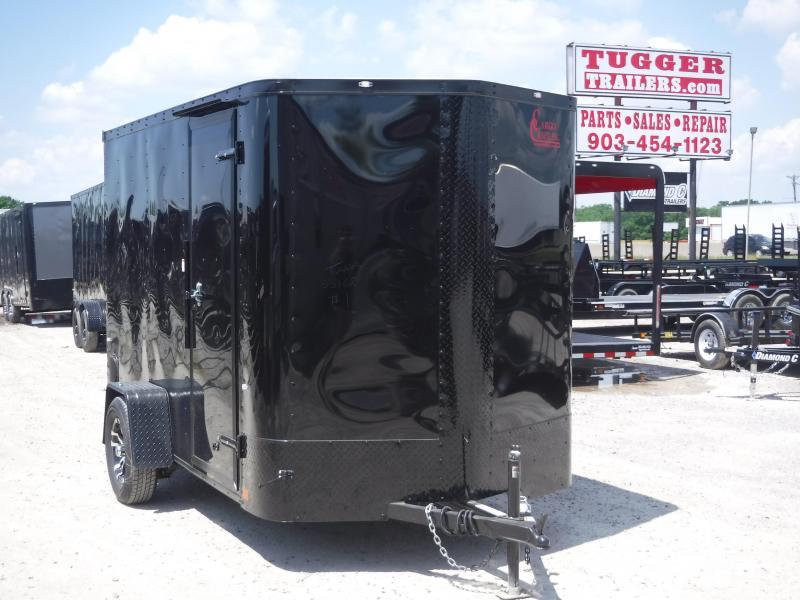 2019 Cargo Craft 6x10 10ft Plus 2 V-Nose Blackout Enclosed Cargo Trailer
