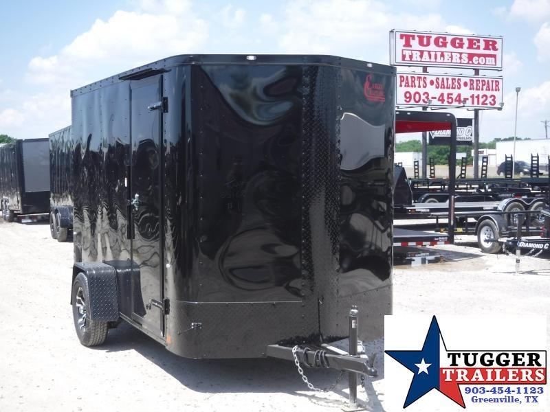 2019 Cargo Craft 6x10 10ft Plus 2 V-Nose Blackout Enclosed Single Axle Cargo Trailer
