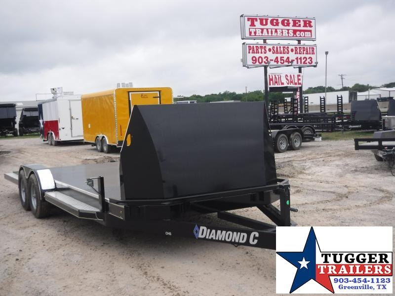 2019 Diamond C Trailers 83x22 22ft Black 2019 CHS252 Flatbed Trailer