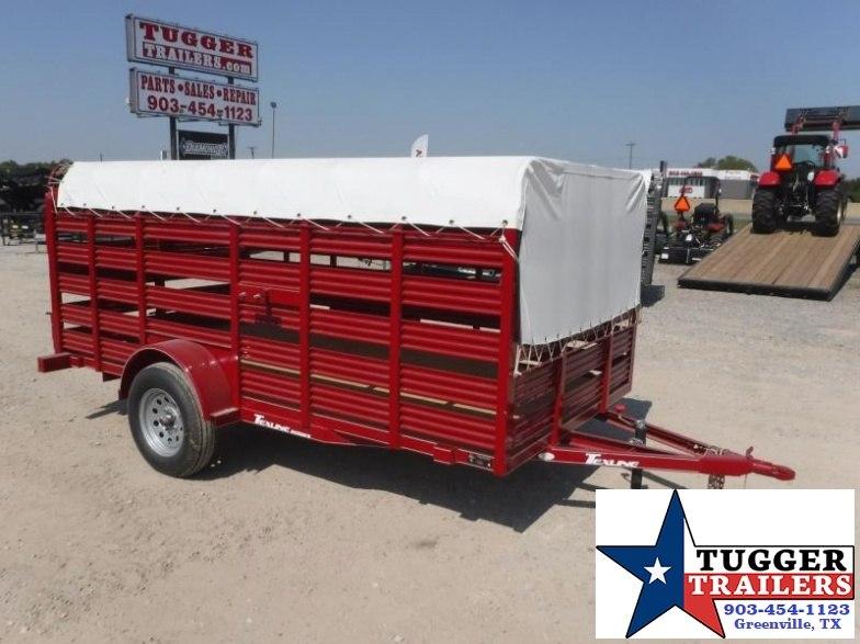 2017 TexLine 6x12 Mini Stock Livestock Trailer