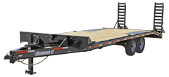 2019 Diamond C Trailers 102x24 24ft DEC102 Flatbed Utility Equipment Trailer