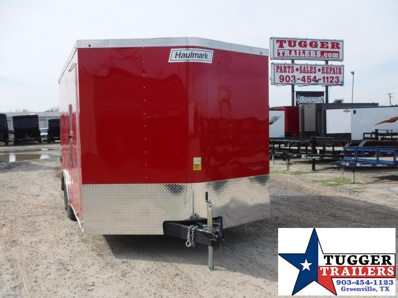 2020 Haulmark 8.5x16 16ft Transport Red Ramp Enclosed Cargo Trailer