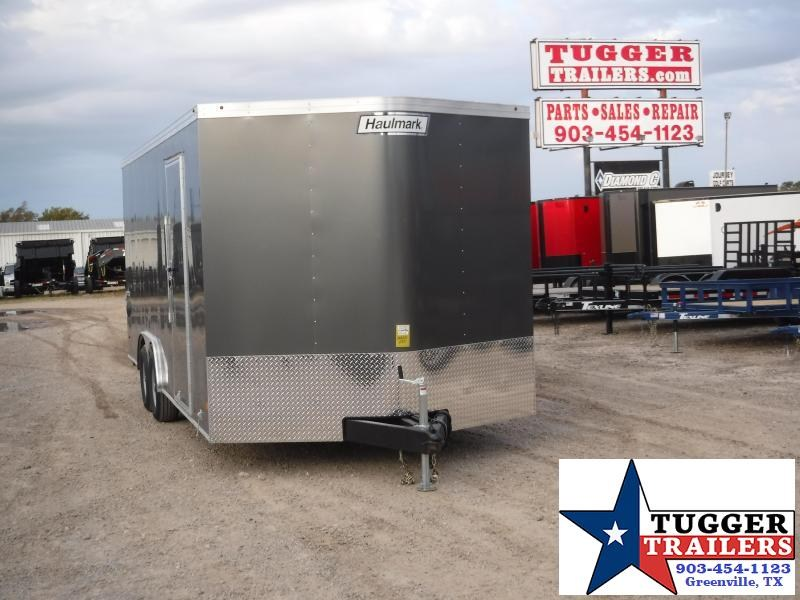 2020 Haulmark 8.5x20 Charcoal with Ramp Enclosed Cargo Trailer