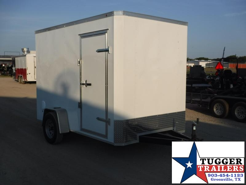 2019 T-Series 6x10 White Enclosed Cargo Trailer