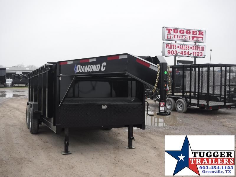 2019 Diamond C Trailers 82x14 14ft Gooseneck Flatbed Trailer