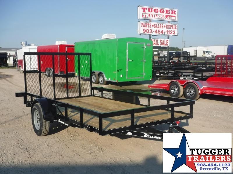 2019 TexLine 77x12 12ft Flatbed Ramp Utility Trailer