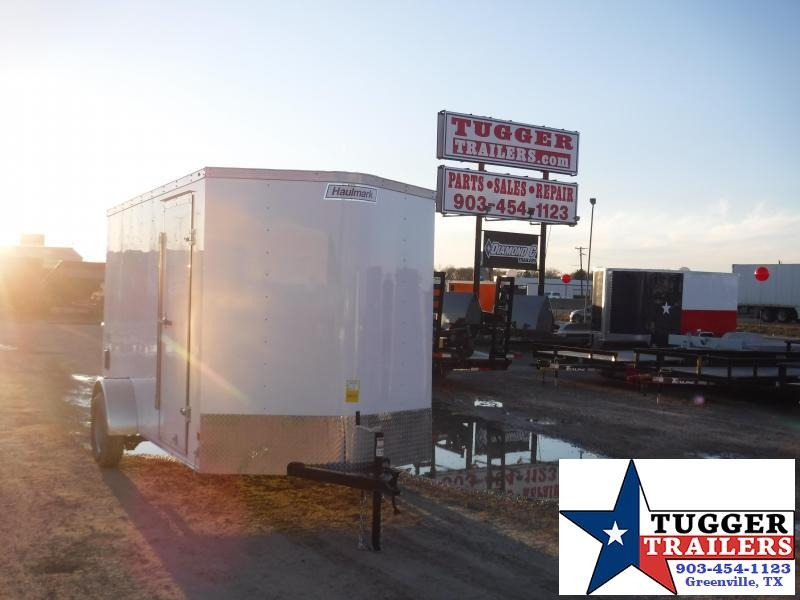 2019 Haulmark 6x12 White Enclosed Cargo Trailer