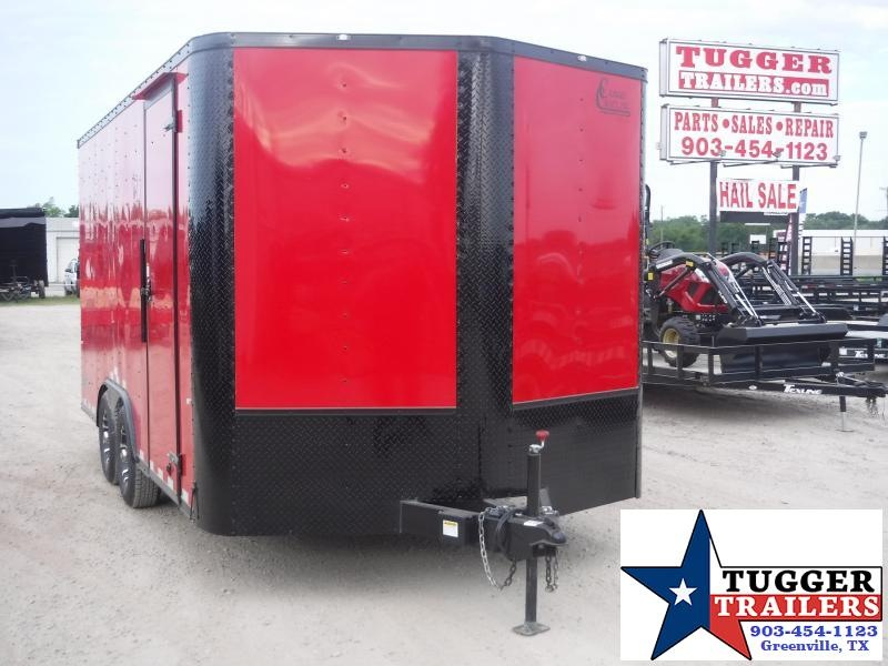 2019 Cargo Craft 8.5x16 16ft Auto Blackout Red Ramp Mobile Car / Racing Trailer