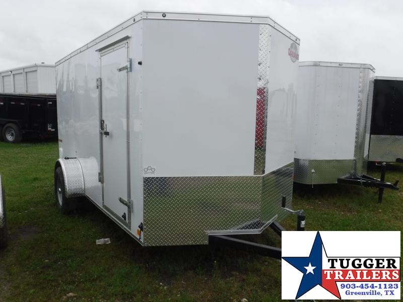 2020 Cargo Mate 6x12 12ft E-V White Ramp Enclosed Cargo Trailer