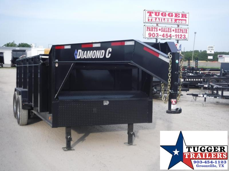 2019 Diamond C Trailers 82x14 14ft Black Gooseneck 2019 LPD Dump Trailer
