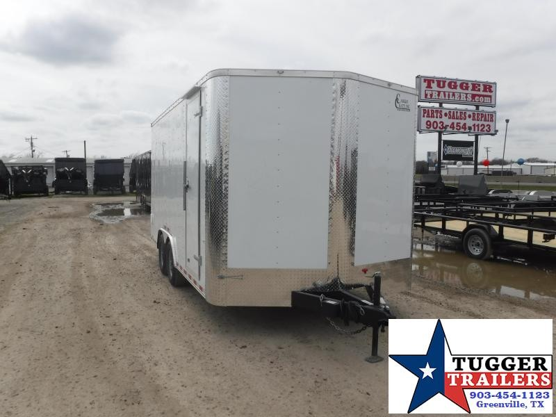 2019 Cargo Craft 8.5x16 16ft White 2019 Ramp Enclosed Cargo Trailer