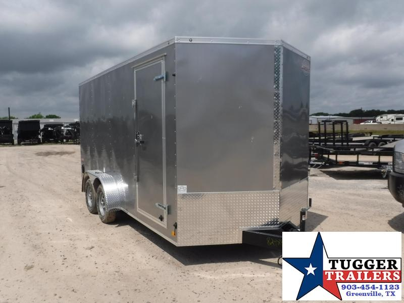 2019 Cargo Mate 7X16 16ft E-Series Silver Ramp Enclosed Cargo Trailer