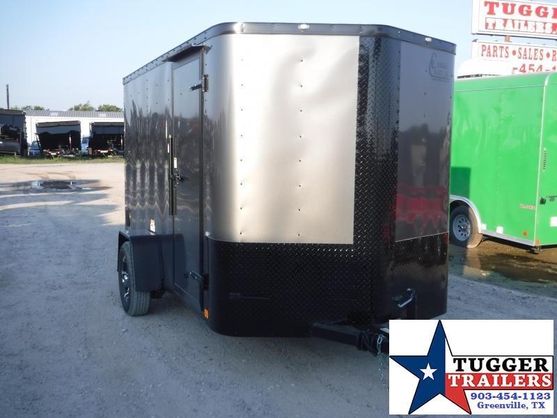 2020 Cargo Craft 6x10 Elite 2' V-Nose Blackout Enclosed Cargo Trailer