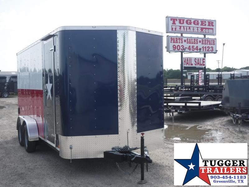 2019 Cargo Craft 7x16 16ft Texas Flag Ramp Enclosed Cargo Trailer
