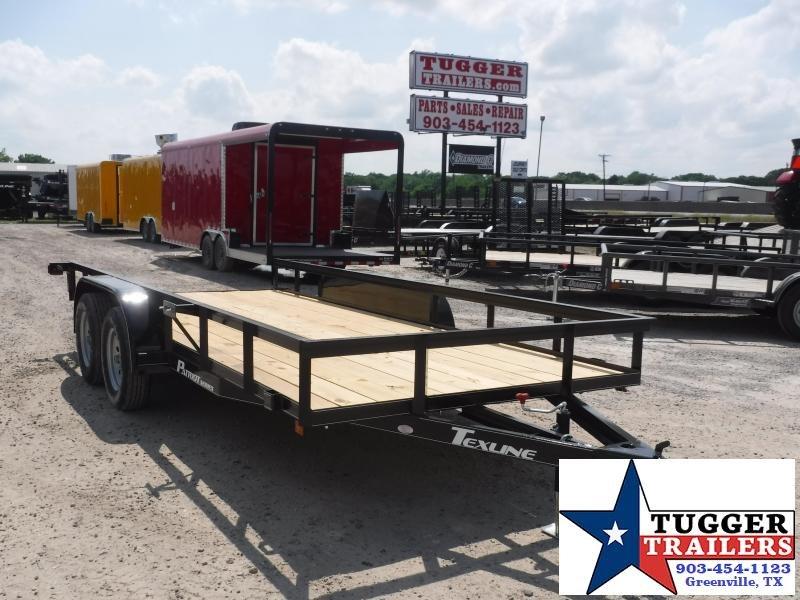 2019 TexLine 77x16 16ft Flatbed Ramp Utility Trailer