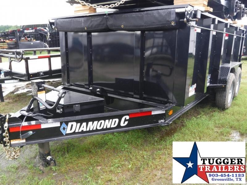 2019 Diamond C Trailers 82x14 14ft Black 2019 LPD Dump Trailer