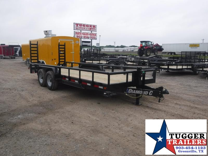 2019 Diamond C Trailers 82x20 20ft EDU207 Flatbed Utility Work Equipment Trailer