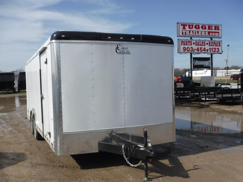 2019 Cargo Craft 8.5x20 20ft Auto White 2019 Ramp Car / Racing Trailer