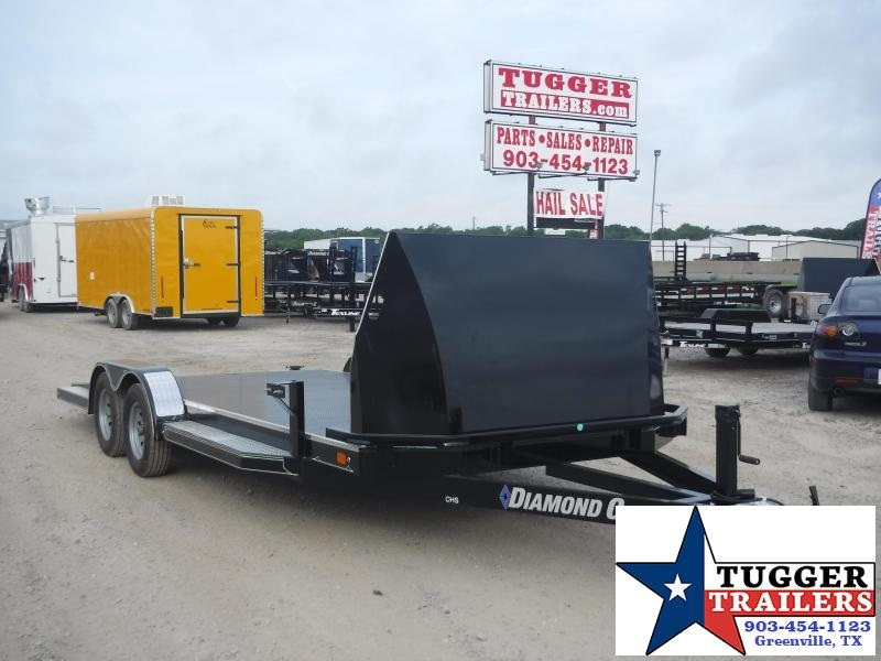 2019 Diamond C Trailers 83x20 20ft Black 2019 CHS 235 Flatbed Trailer