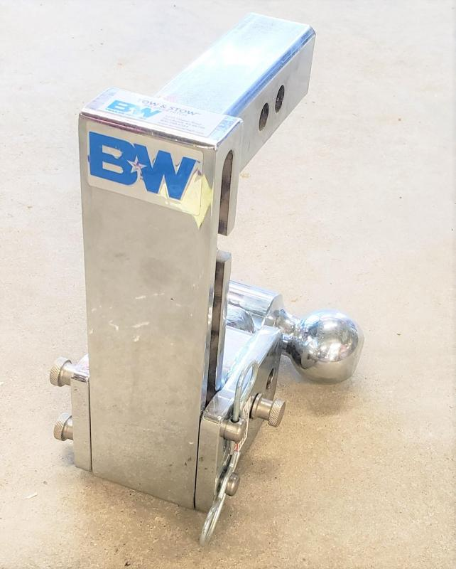 "B&W Tow & Stow Chrome Dual-Ball Trailer Hitch Mount - 7"" Drop"